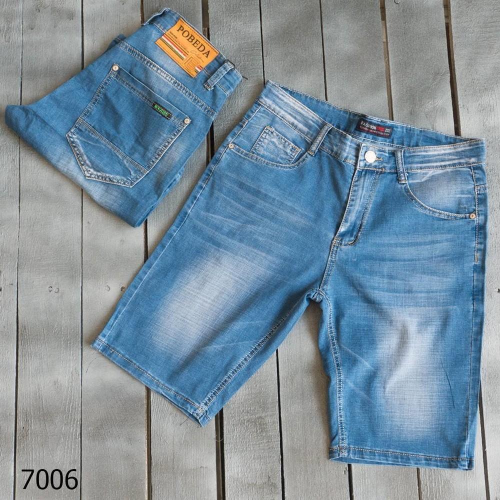 Шорты джинсовые мужские синие лето 30,31,32,33,34,36,40 фото №1