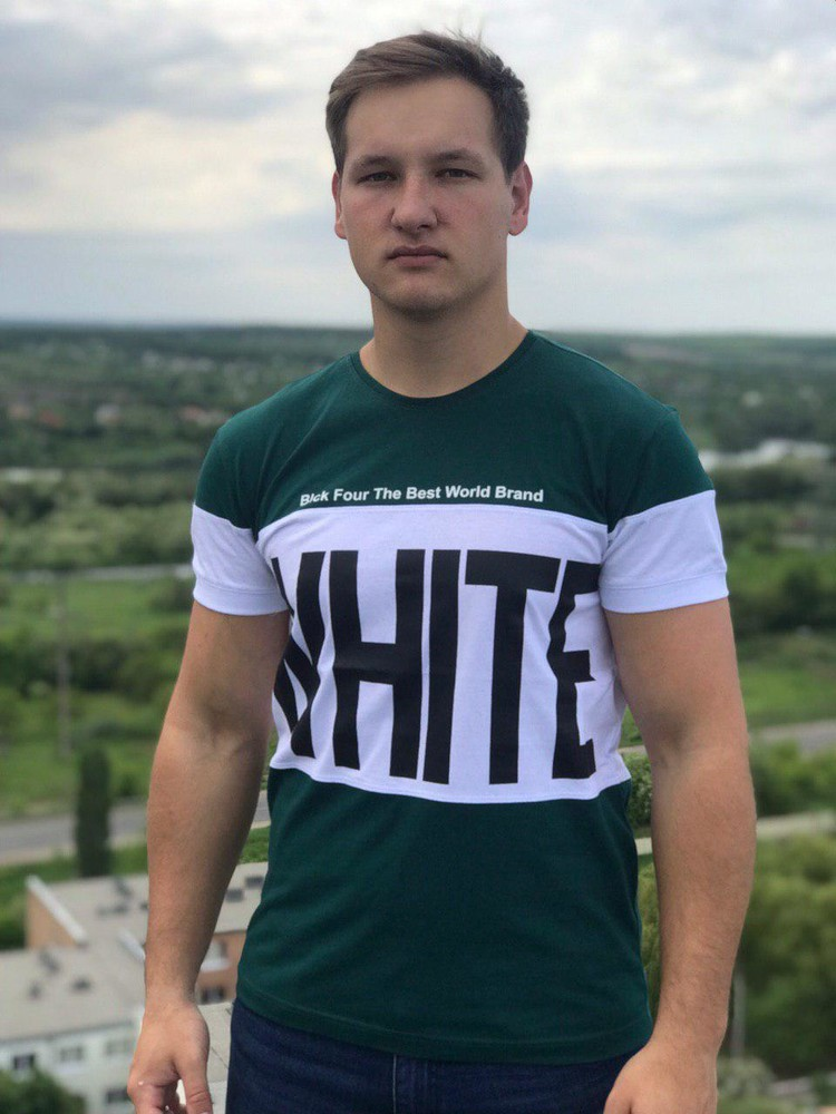 Мужская футболка вайт, хлопок фото №1