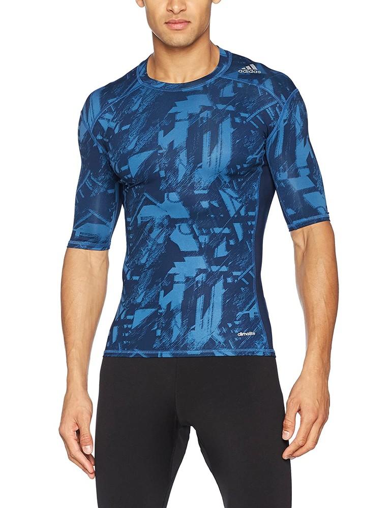 Компрессионная футболка adidas techfit base фото №1
