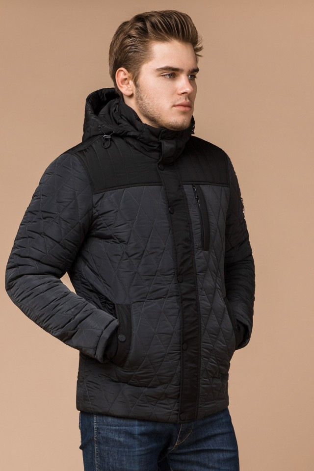 Короткая мужская стеганая куртка фото №1