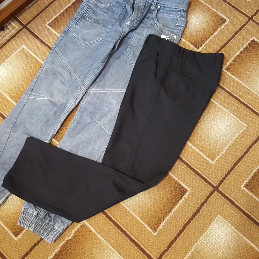 Классические черные мужские брюки r-grand фото №1