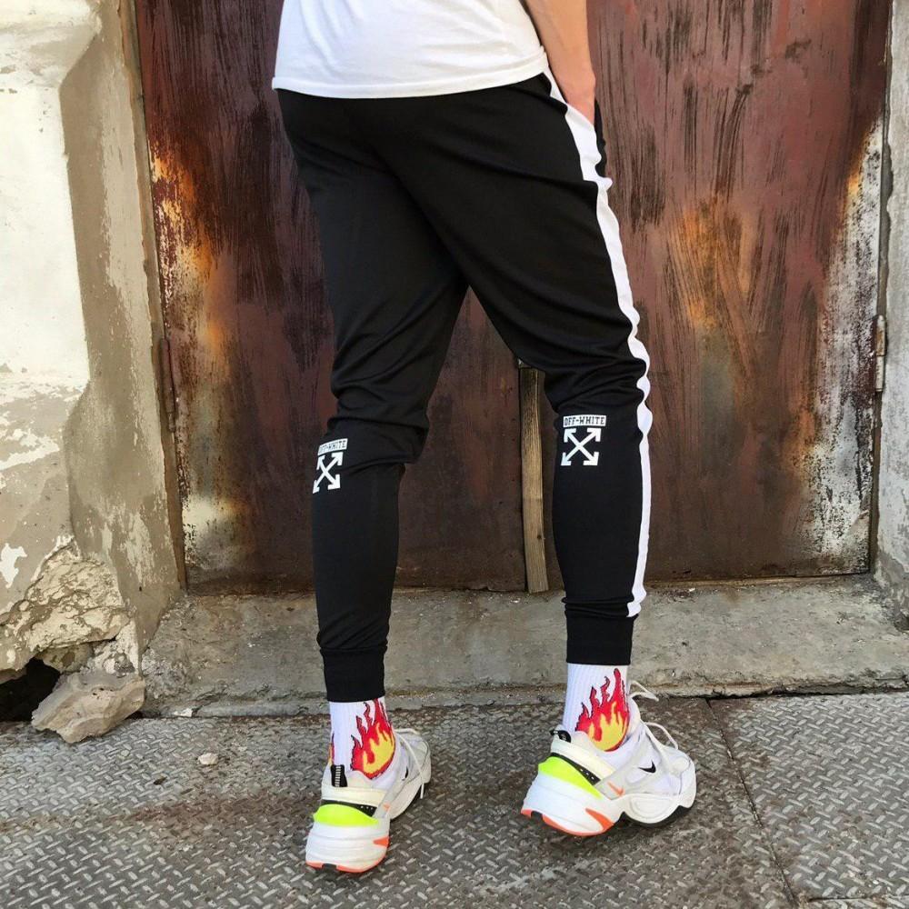 Спортивные штаны черные off white фото №1