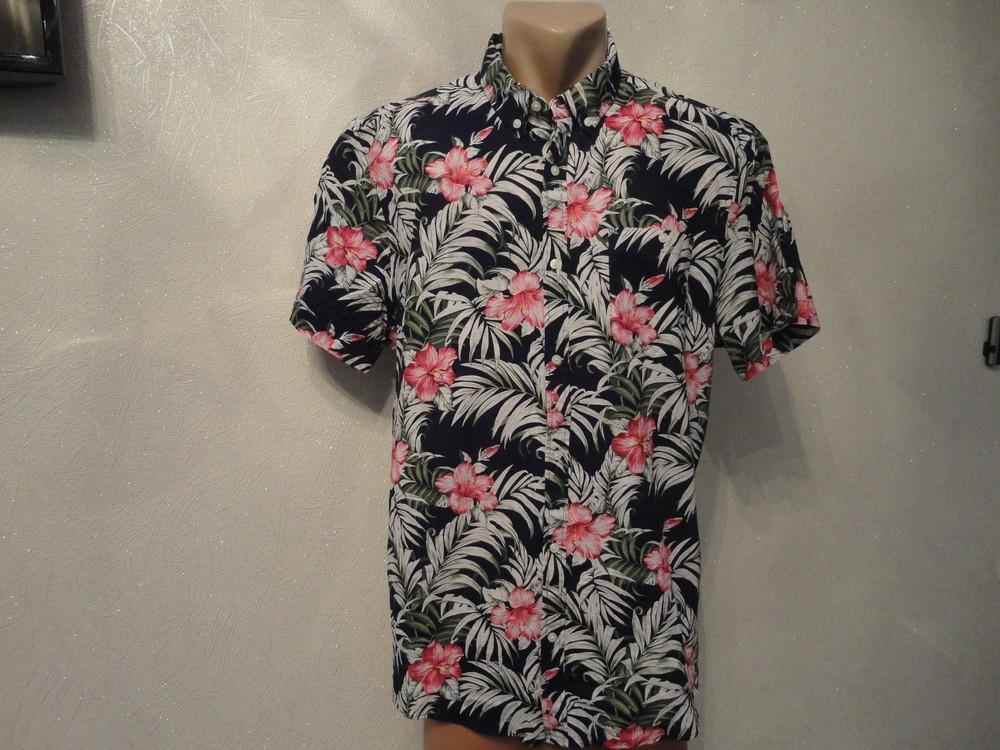 Тенниска, рубашка, шведка, короткий рукав в цветок фото №1