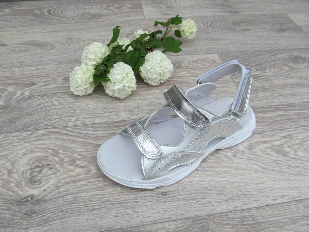 Босоножки кожаные сандалии для девочки 32--40рр фото №1