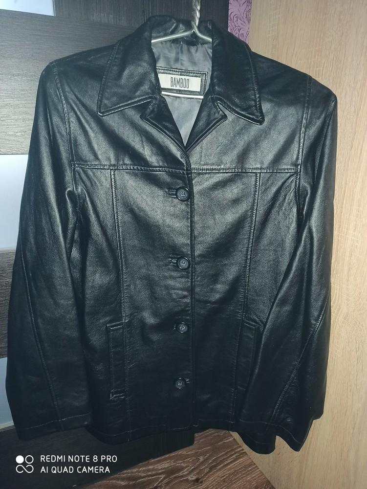 Стильный , кожаный пиджак,л фото №1