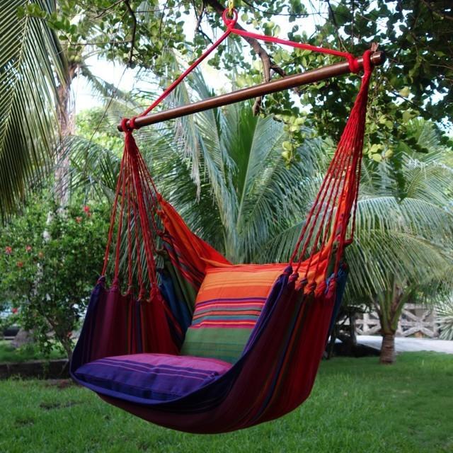 Гамак, кресло, с планкой, с двумя подушками, хлопковый, натуральный, прочный, качественный, до 150кг фото №1