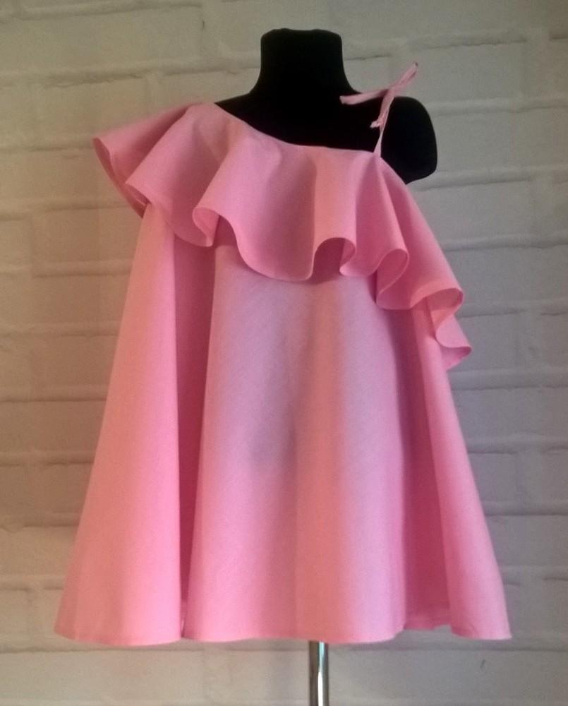 Платье для девочки. платье детское нежно-розового цвета. 100% рр 110-140 фото №1
