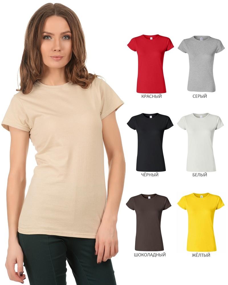 Женская футболка gildan супермягкая 100 хлопок softstyle фото №1