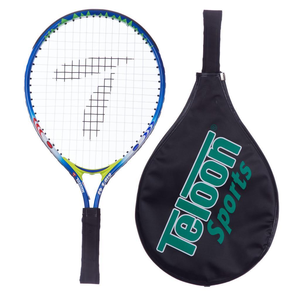 Ракетка для большого тенниса детская teloon 2556-17: 17 дюймов (чехол в комплекте) фото №1