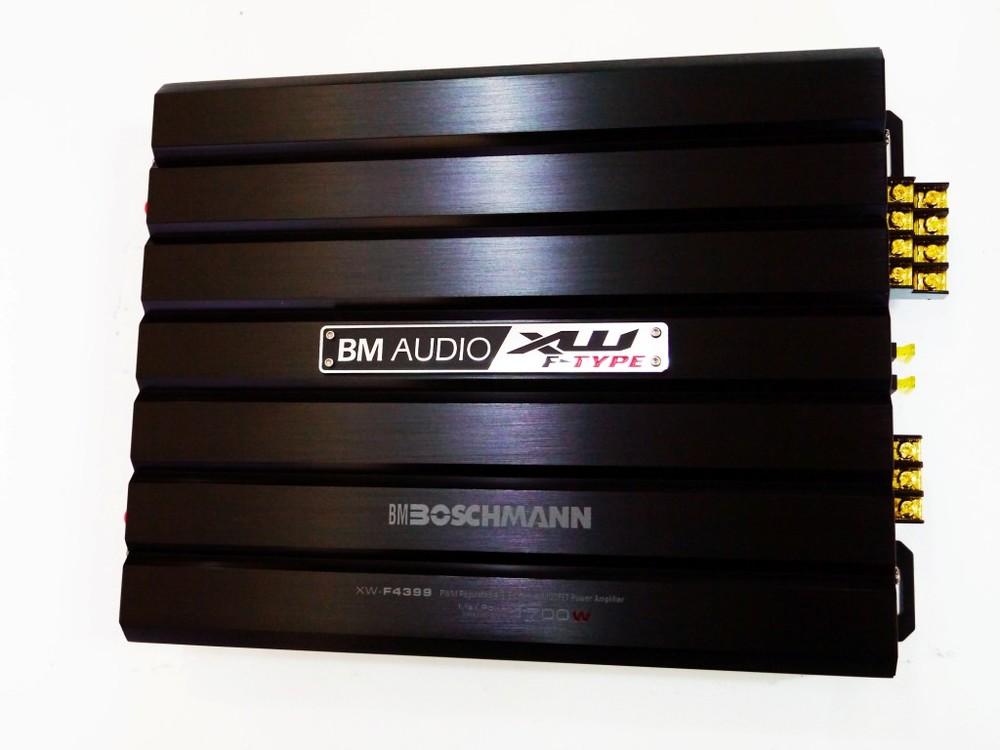 Автомобильный усилитель звука boschman bm audio xw-f4399 1700w 4-х канальный фото №1