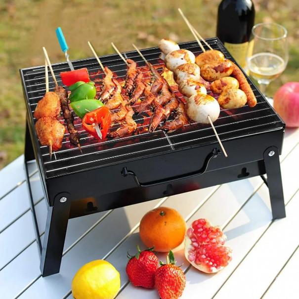 Складной барбекю гриль портативный мангал bbq grill portable – жаропрочный фото №1