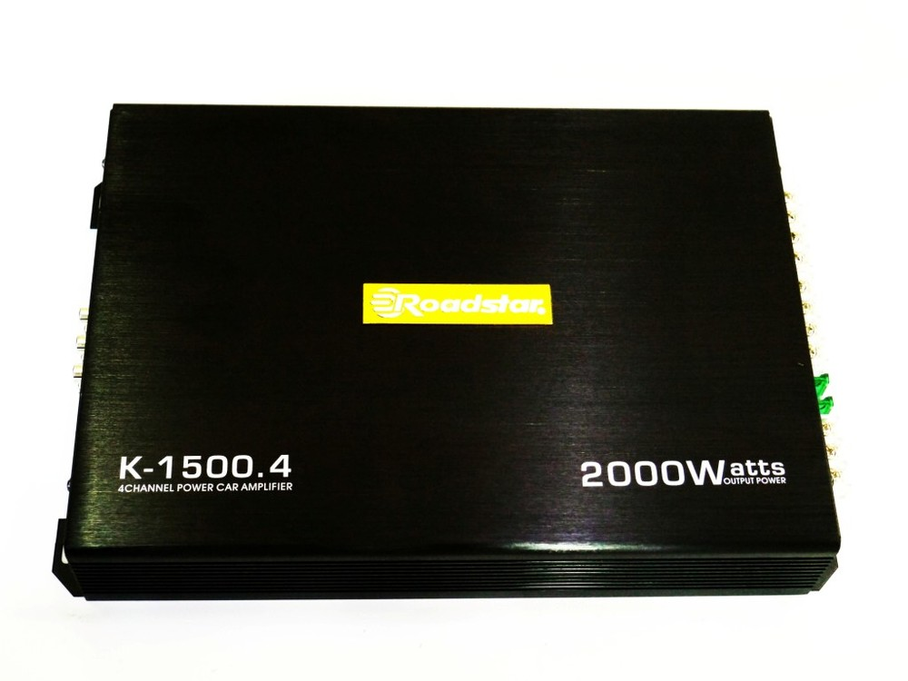 Автомобильный усилитель звука roadstar k-1500.4 2000w 4-х канальный фото №1