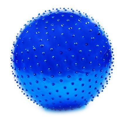 Мяч для фитнеса, фитбол массажный с шипами, 65 см. с насосом - gym ball фото №1