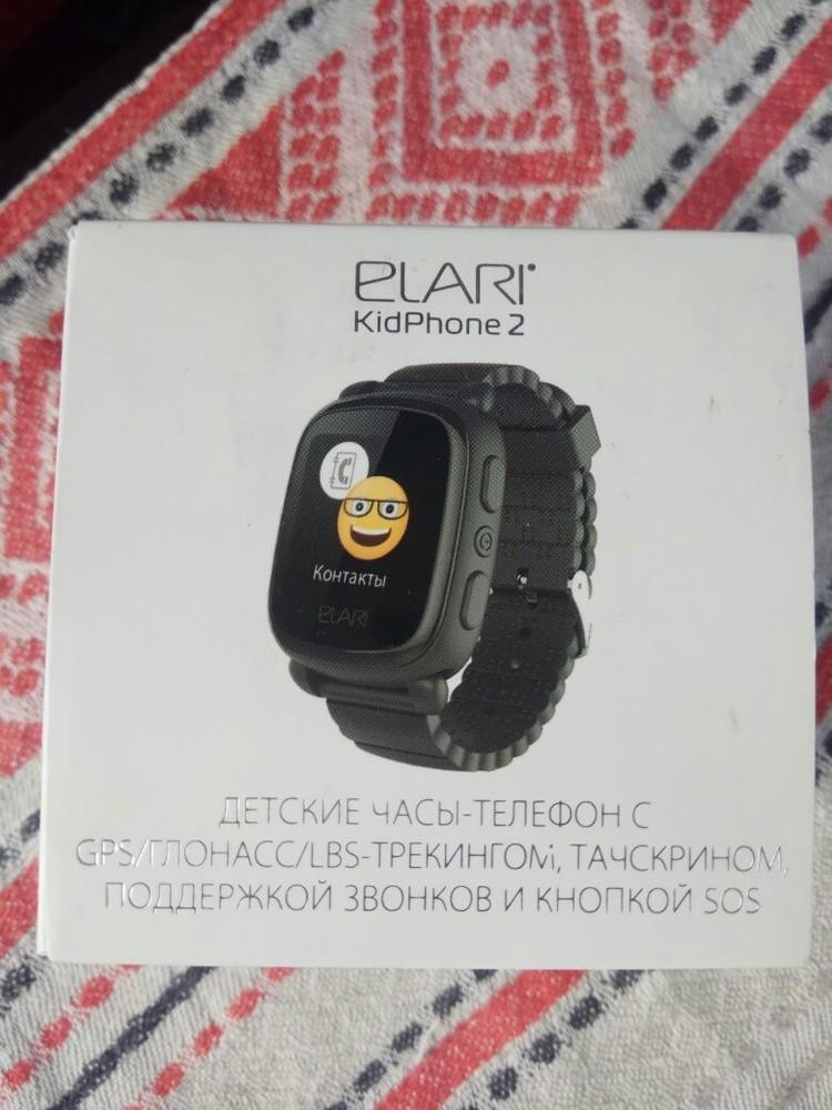 Детские часы-телефон elari kidphon 2 на гарантии фото №1