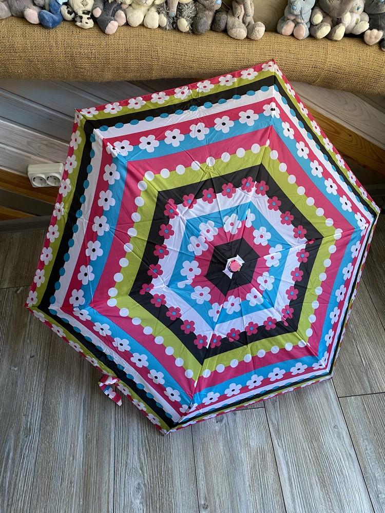 Зонт детский в цветочки фото №1