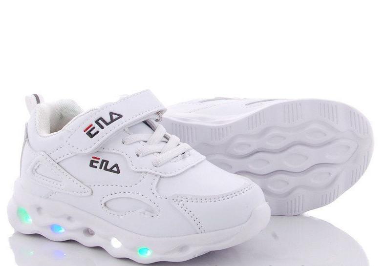 Белые детские кроссовки с лед подсветкой 27,28 размеры фото №1