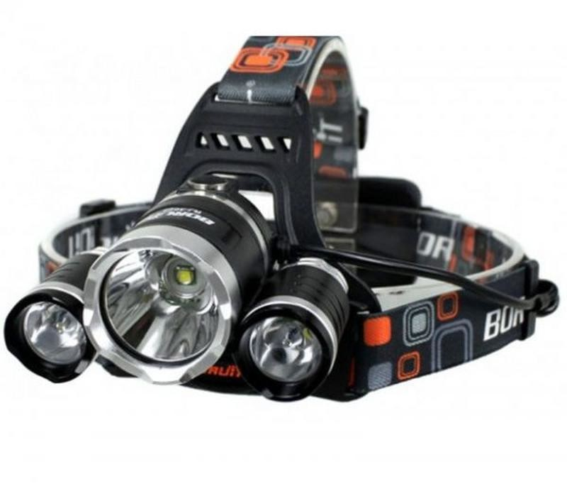 Налобный фонарь rj-3000-t6 boruit bailong wimpex police чёрный фото №1