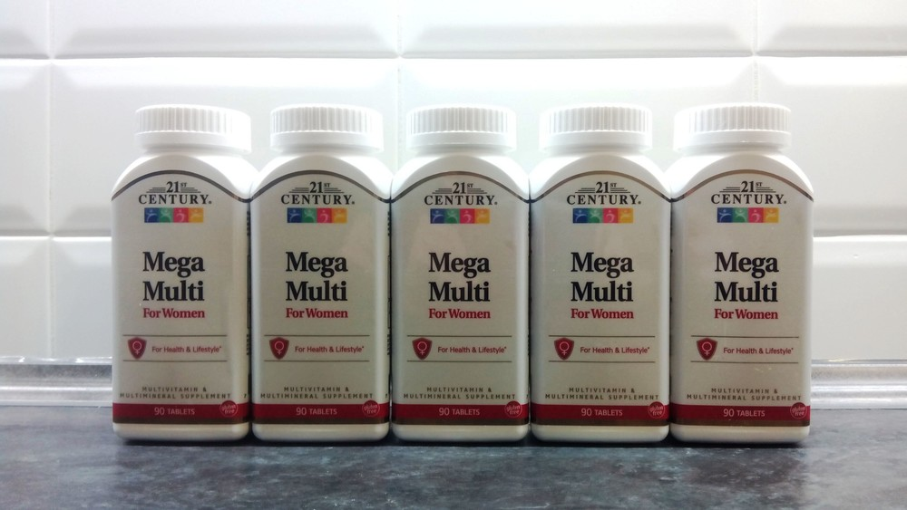 21st century, mega multi for women (90 таб.), женские витамины фото №1
