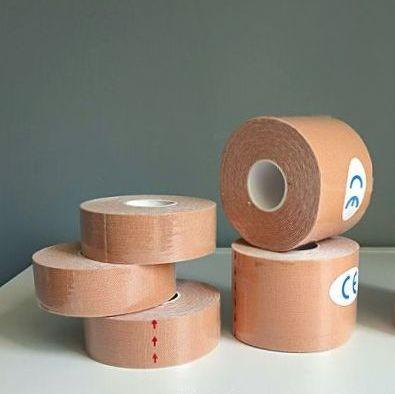 Кинезио тейп kinesio tape для лица и тела 2,5см х 5м и 5см х 5м фото №1