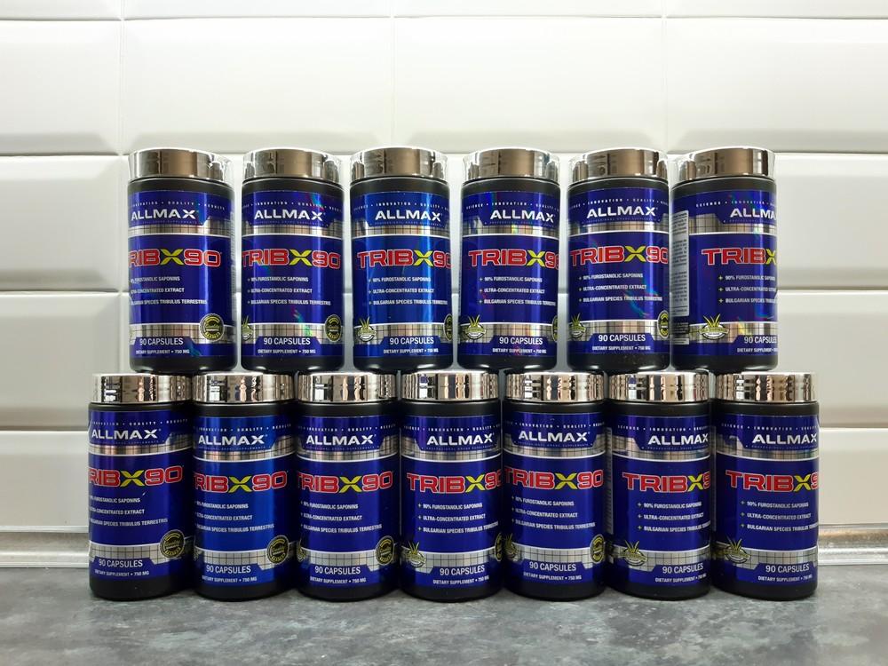 Трибулус allmax tribx90, 90% /повышение тестостерона, tribulus фото №1