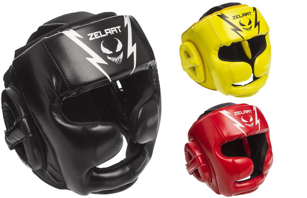 Шлем боксерский с полной защитой zelart 1375 (шлем бокс): размер m-xl (3 цвета) фото №1