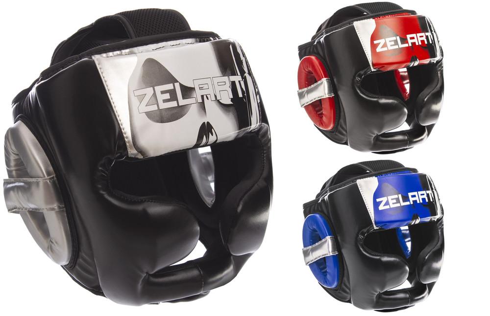 Шлем боксерский с полной защитой zelart 1320 (шлем бокс): размер m-xl (3 цвета) фото №1