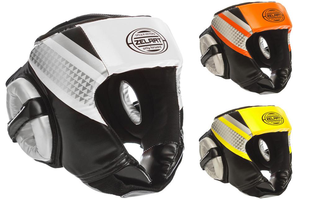 Шлем боксерский открытый zelart 1336: размер m-xl, 3 цвета фото №1