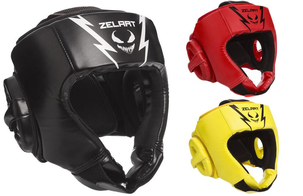 Шлем боксерский открытый zelart 1371: размер m-xl, 3 цвета фото №1