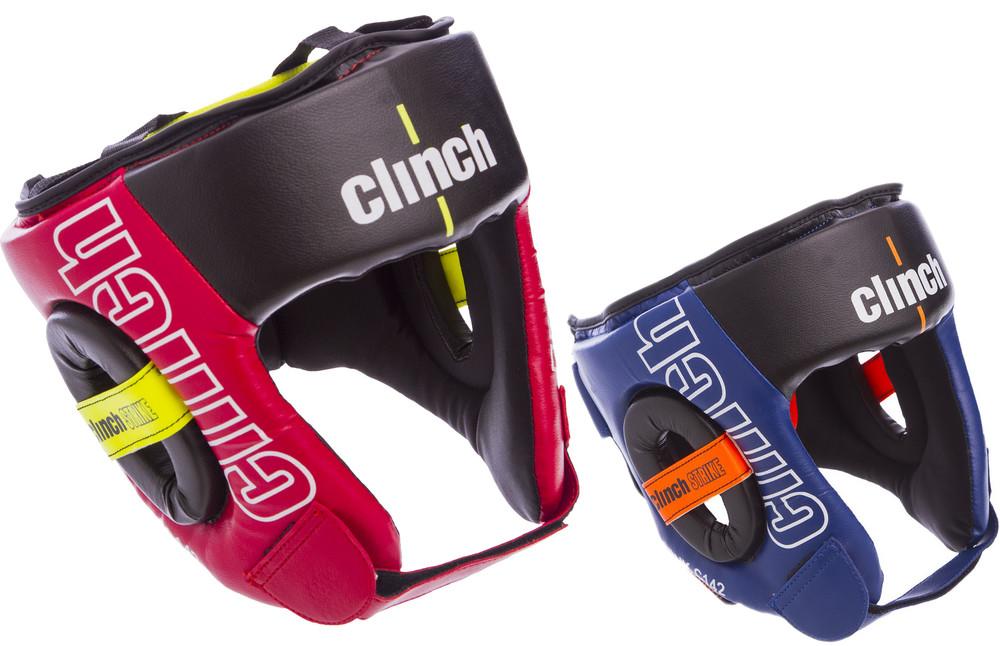 Шлем боксерский с полной защитой clinch c142 (шлем бокс): размер m-xl (2 цвета) фото №1