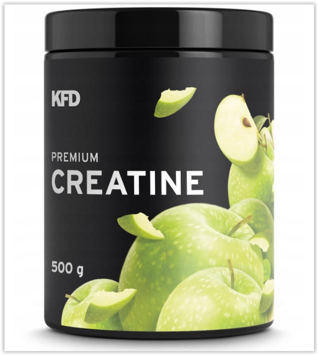 Kfd premium creatine - 500гр креатин моногидрат вкус яблоко фото №1