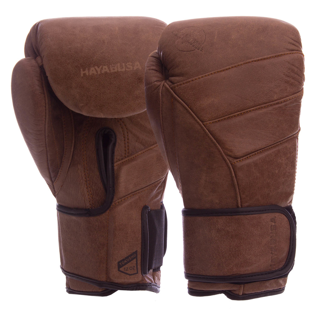 Перчатки боксерские кожаные на липучке hayabusa t3hb: 10-12 унций фото №1