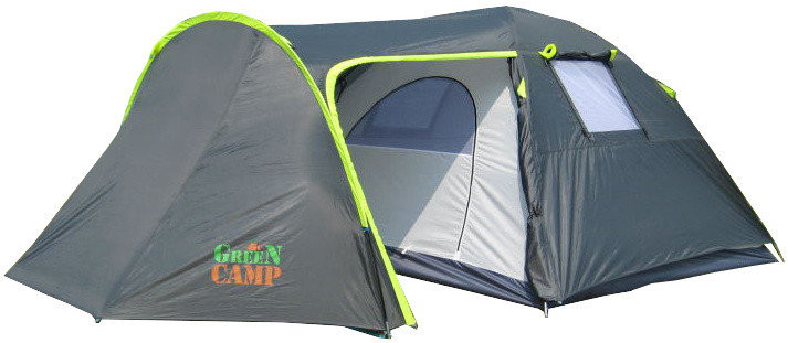 Палатка 4-х местная greencamp gc1009-2, два входа (440x245x155см) фото №1