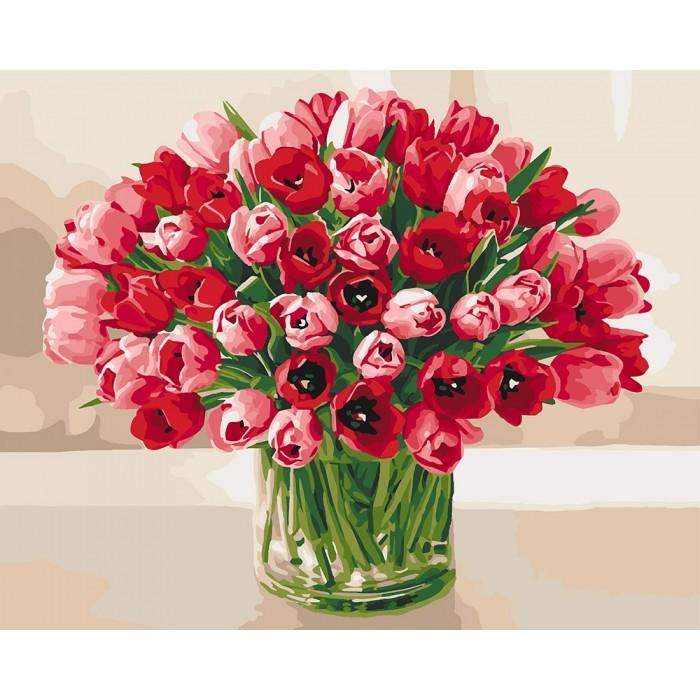 Картина по номерам жгучие тюльпаны кно3058 фото №1