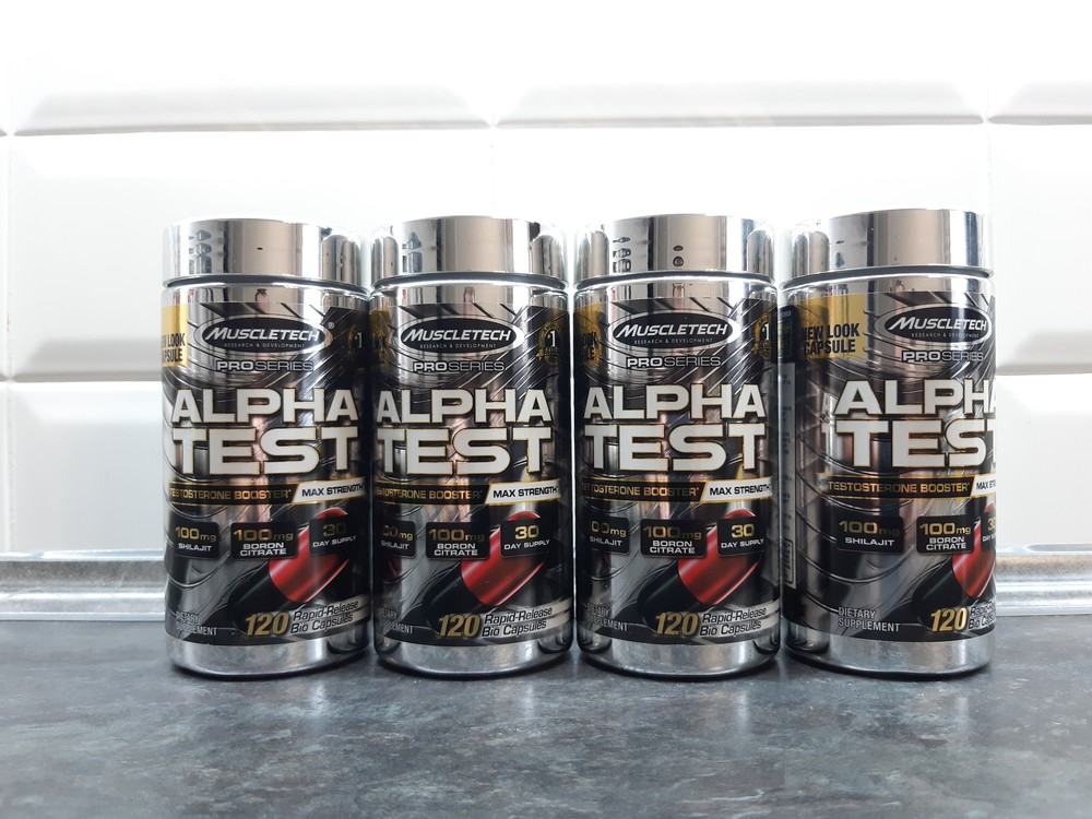 Muscletech, alpha test (120 капс.=60 порций), бустер тестостерона фото №1