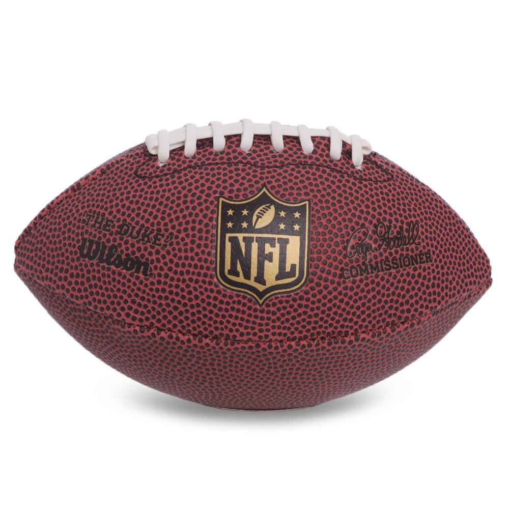 Мяч для американского футбола wilson nfl micro football f1637: резина (коричневый цвет) фото №1