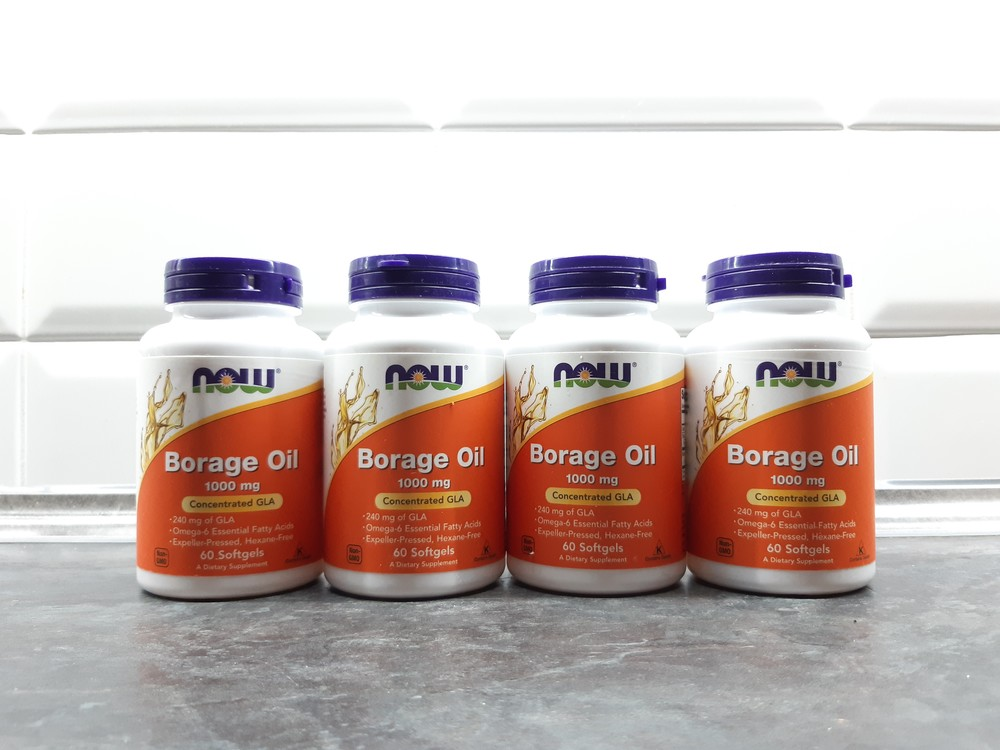 Now foods, масло бурачника (60 капс.), borage oil, масло бораго фото №1