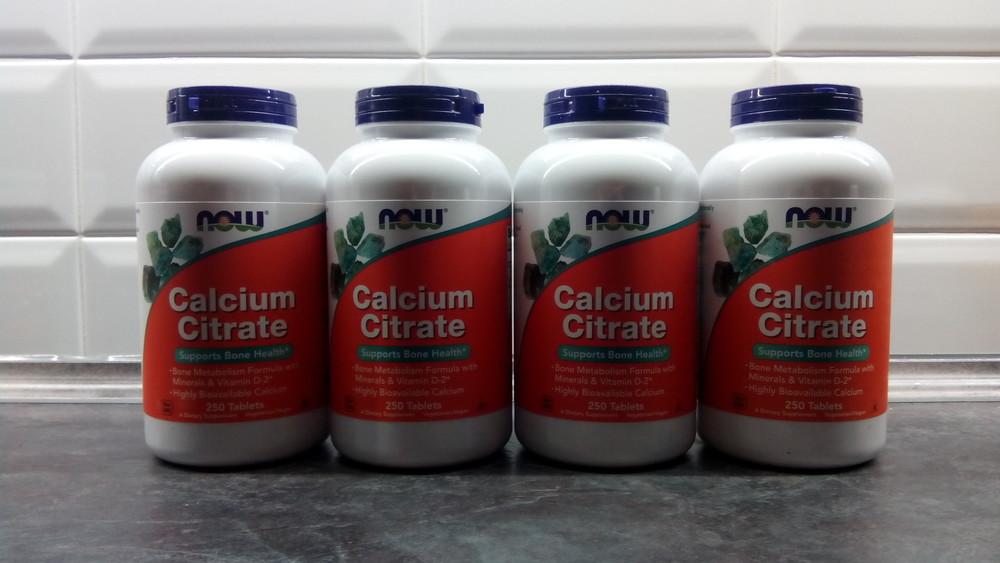 Now foods цитрат кальция, 250 таб, calcium citrate, кальций+d3 +магний фото №1