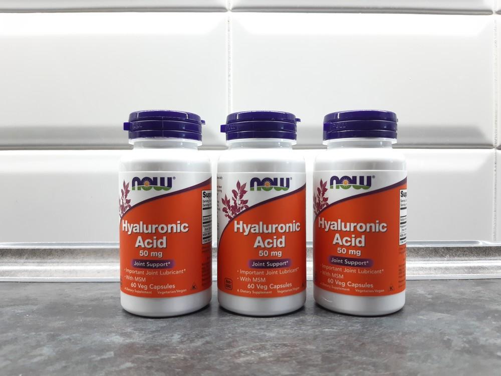Now foods, гиалуроновая кислота + мсм, 60 капсул, hyaluronic acid фото №1