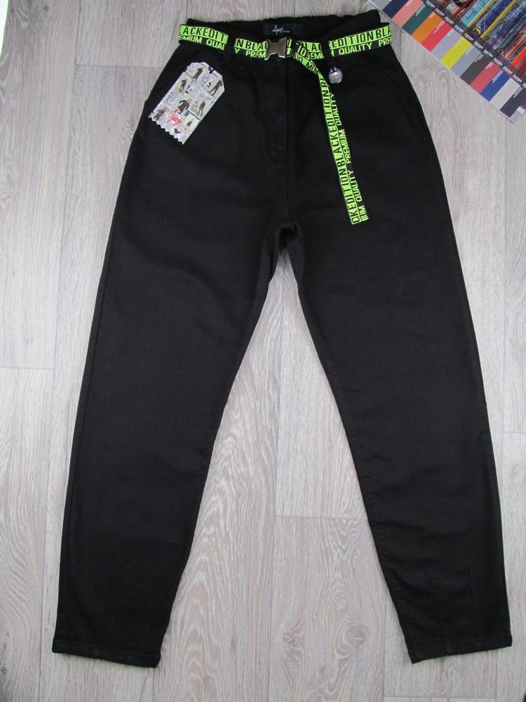 Хит сезона! черные джинсы мом. 140-170р. турция. фото №1