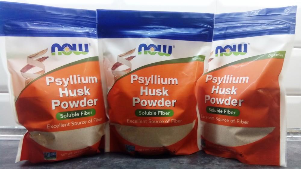Now foods, шелуха семян подорожника (680г), клетчатка psyllium fiber фото №1