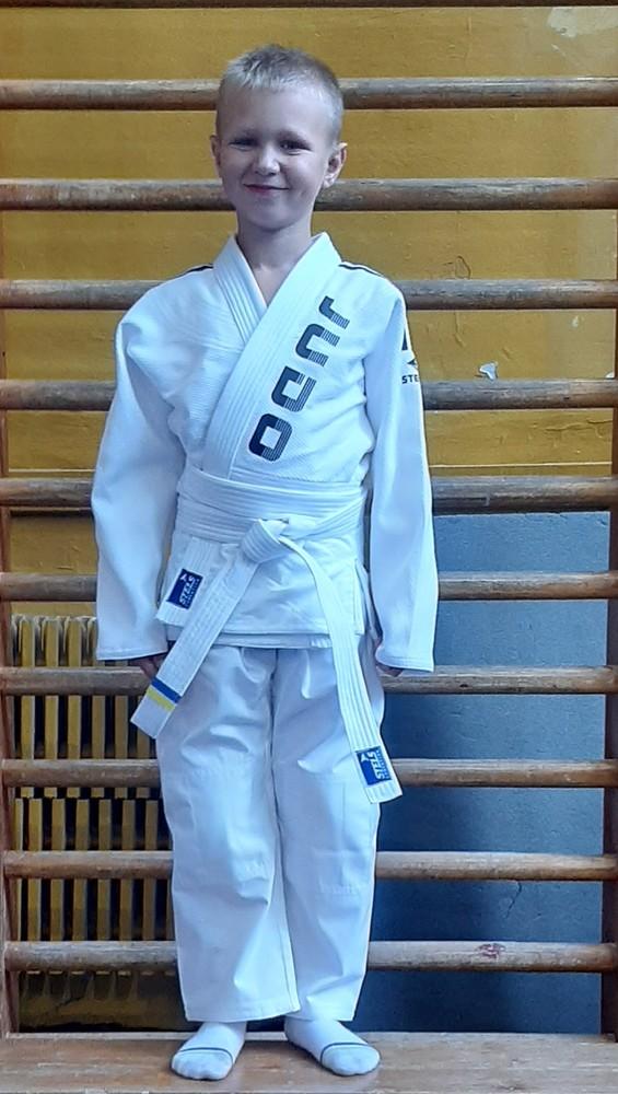 Кимоно для дзюдо детское белое, с поясом фото №1