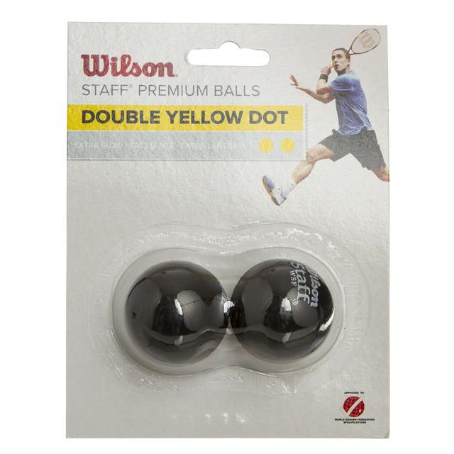 Мяч для сквоша wilson staff 618100: 3 мяча в комплекте (сверхмедленный мяч) фото №1