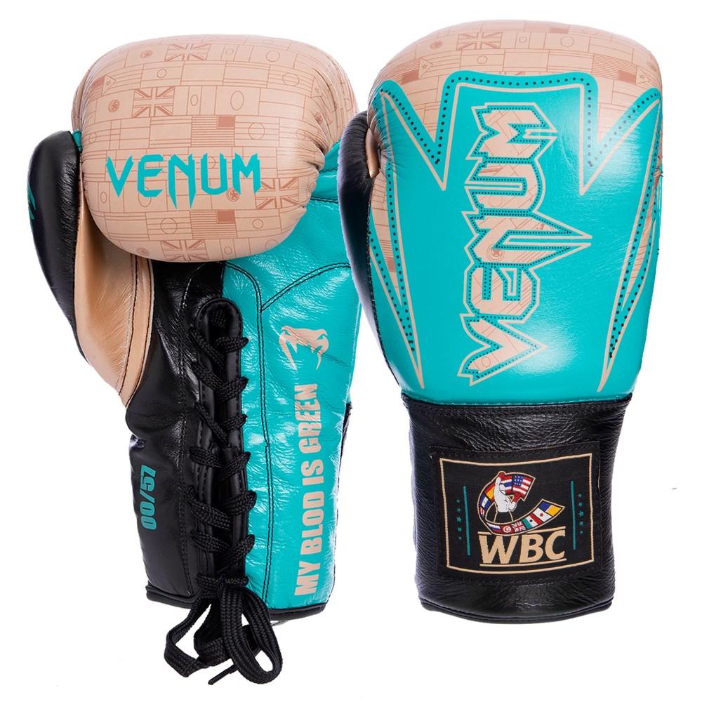 Перчатки боксерские на шнуровке venum hammer pro 2021: 10-14 унций, кожа фото №1