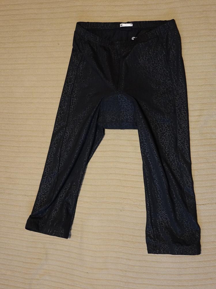 Стильные черные принтовые удлиненные велошорты с фирменным памперсом campagnolo италия m фото №1