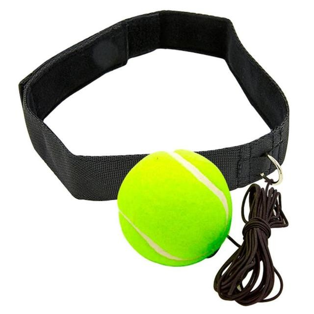 Теннисный мяч на резинке боксерский fight ball 1358 с повязкой на голову (пневмотренажер файт бол) фото №1
