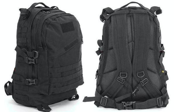 Рюкзак тактический штурмовой трехдневный 3d: объем 40л, размер 47х34х17см (черный цвет) фото №1
