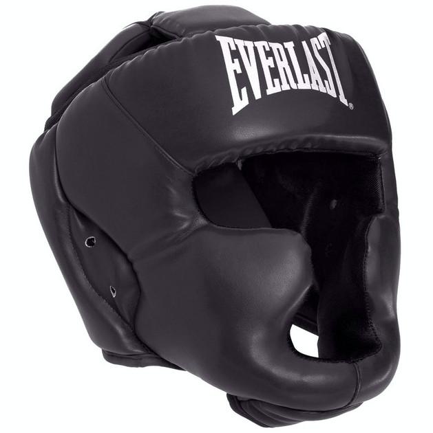 Шлем боксерский с полной защитой elast 4299 (шлем бокс): размер l (black) фото №1