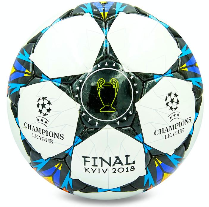 Мяч футбольный №4 final kyiv 8266: pu, сшит вручную фото №1