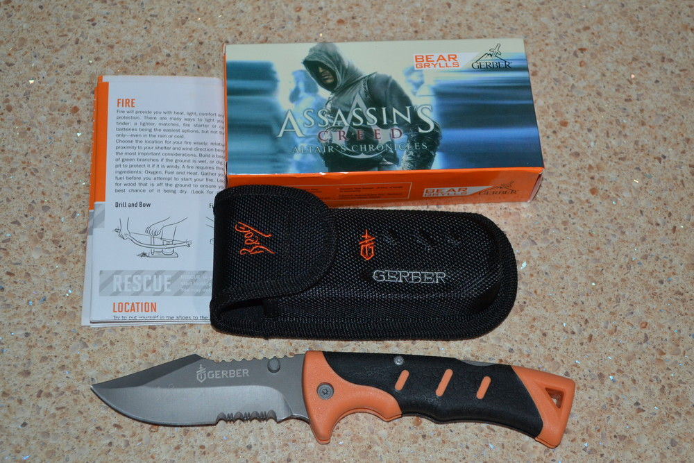 Нож складной gerber bear grylls sheath фото №1