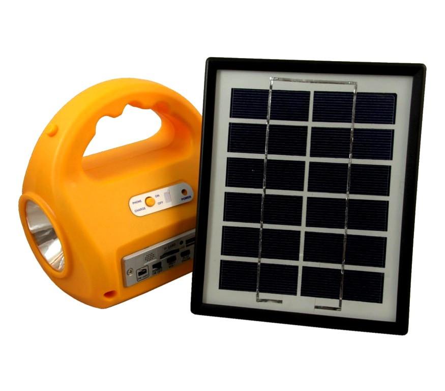 Kемпинговый фонарь с солнечной батареей и радио no: 7655 фото №1
